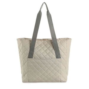 DSW Grey Quilted Handbag/Tote